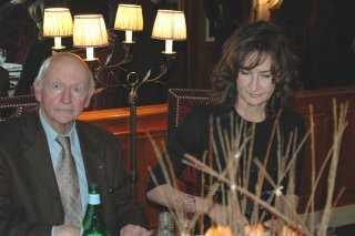 Gilles Jacob, et Valérie Lemercier dînent au Fouquet's (César 2007)