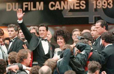 Blog du Festival de cannes Liz Taylor et Stallone en 1993