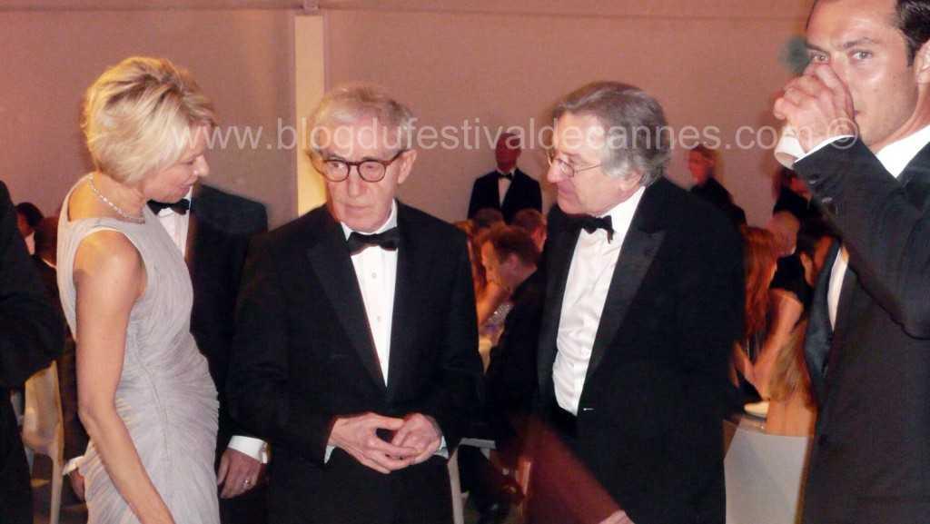 Dinner with Robert de Niro, Woody Allen, Jud Law, Adrian Brody Cannes