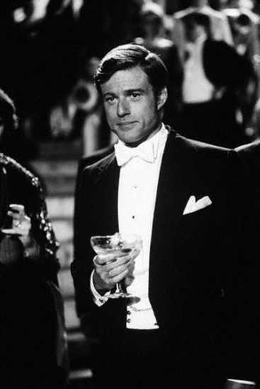 Robert Redford in Tuxedo with Champagne