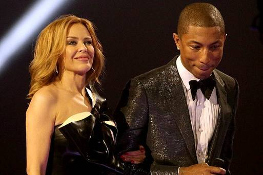 Kylpe Minogue and Pharell Williams-Cannes 2014_Leblog