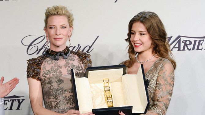 Adèle Extrapoulos and Kate Blanchet (Palme d'Or)