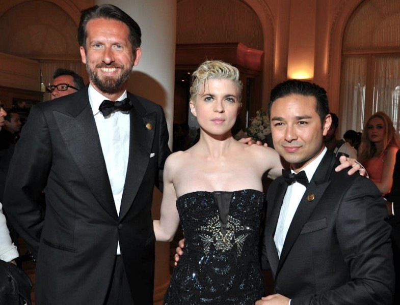 Sam Bobino (Relation Publique de la soirée), Cécile Cassel (Hollysiz), Dr David Luu (Président de The Heart Fund)
