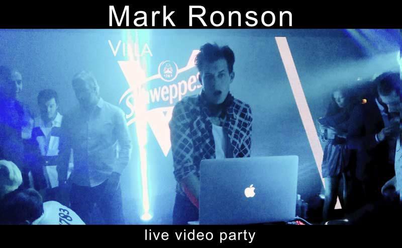 Flash Back a la Villa Schweppes avec Mark Ronson en vidéo live
