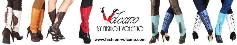 Guetres de luxe, cuir et lycra VOLCANO en ligne