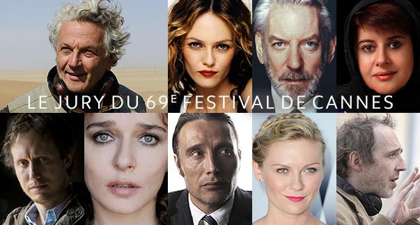 JURY DU 69e FESTIVAL DE CANNES (11-22 mai 2016)