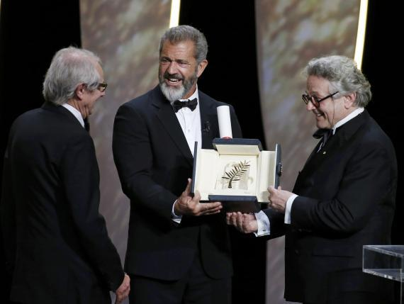 Mel Gibson, Geoge Miller and Ken Loach (Palme d'Or)