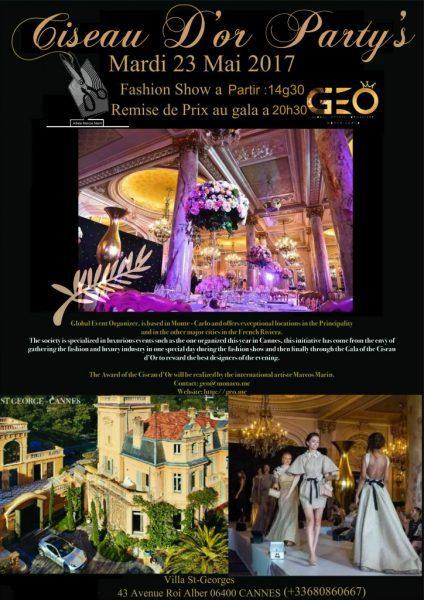Ciseau d'Or Party : Villa St Georges 23 mai 2017